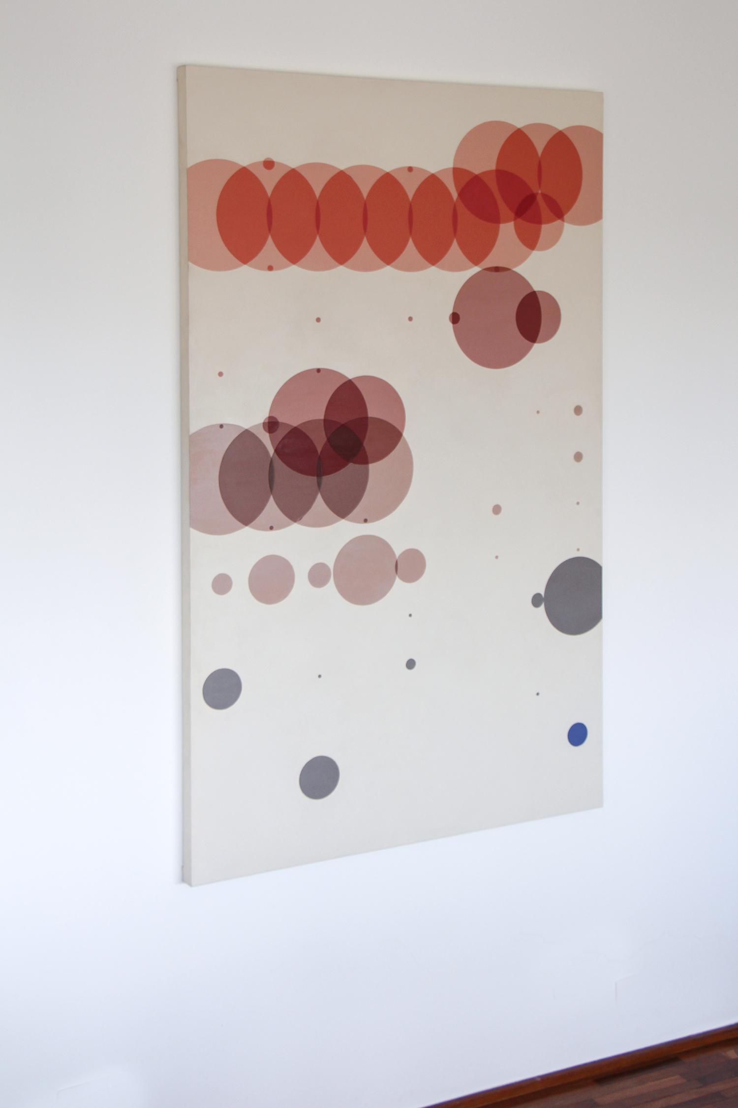 Tempo com Filha   (  série Autorretratos Estatísticos)•2012 •  Acrílica sobre tela + livro de artista •  1,5 x 0,90 m