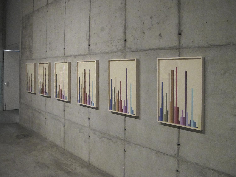 Hemograma Completo  (  série Autorretratos Estatísticos) •2012 •6 impressões jato de tinta sobre papel de algodão + livro de artista •0.70 x 0,50 m (cada)