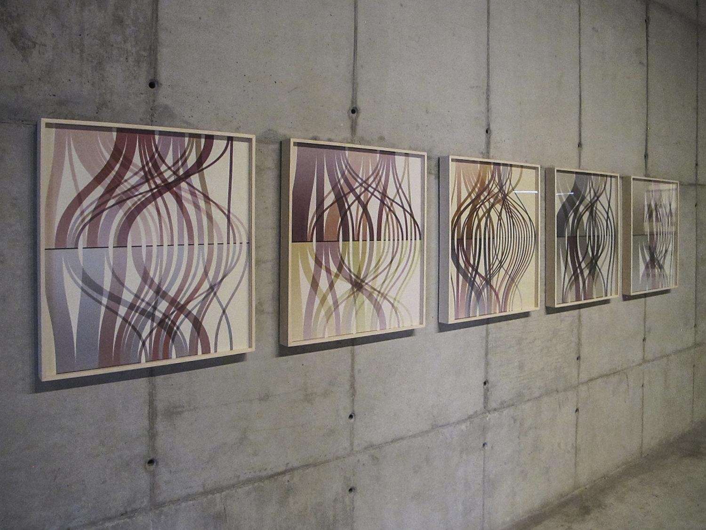 Trilhas  (  série Autorretratos Estatísticos)•2012 •  Jato de tinta sobre papel de algodão + livro de artista •  0,70 x 0,65 m (cada)