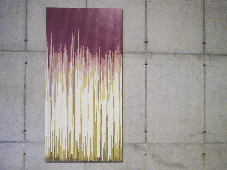 Atividades Diárias   (  série Autorretratos Estatísticos)•2012 • A  crílica sobre tela + livro de artista •  2,0 x 1,0 m