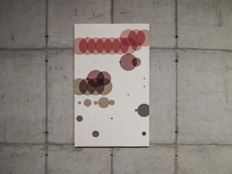 Tempo com Filha  (  série Autorretratos Estatísticos) •2012 •Acrílica sobre tela + livro de artista •1,5 x 0,90 m