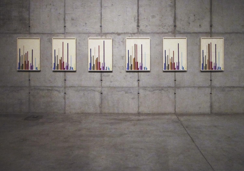 Hemograma Completo   (  série Autorretratos Estatísticos)•2012 •  6 impressões jato de tinta sobre papel de algodão + livro de artista •  0.70 x 0,50 m (cada)