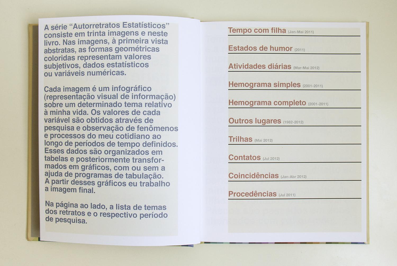 Livro de artista(série Autorretratos Estatísticos) • 2012