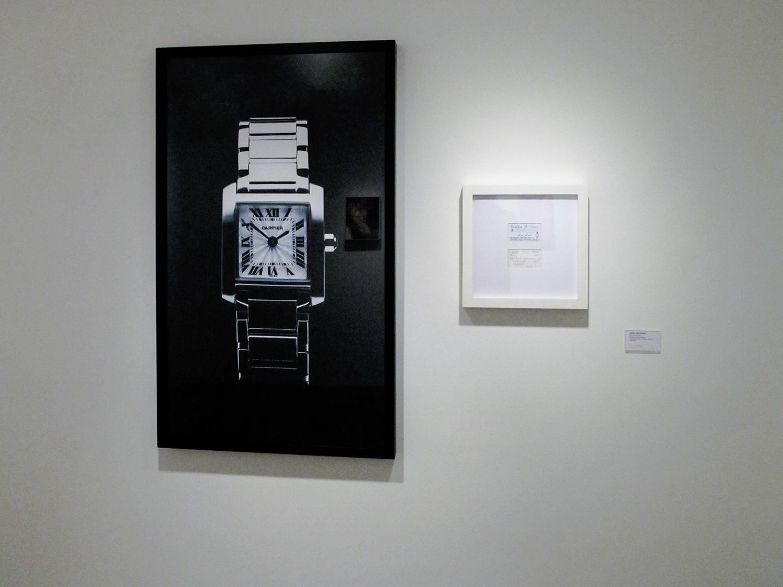 Cartier Tank: R$ 120,00 (série O Que Te Seduz) •  2003/2004 •  Fotografia, impressão digital, recibo de compra •  120 x 70 cm, 30 x 30 cm (díptico)
