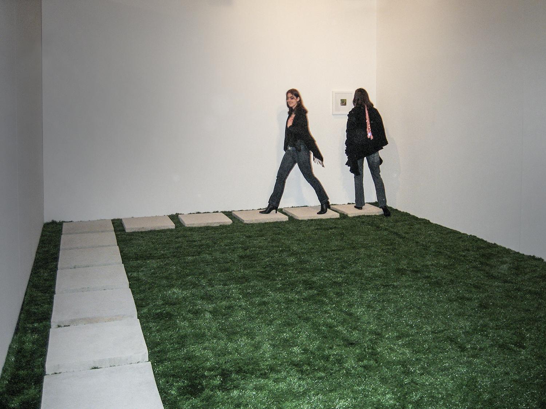 I Make Mine Myself  •  2006 • Photograph  , artificial grass, concrete •  Dimensions variable