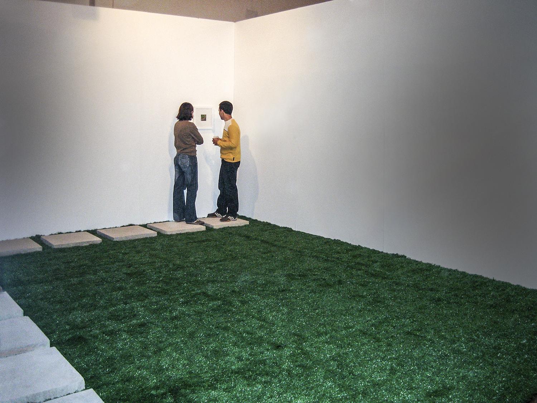 I Make Mine Myself•2006 • Photograph, artificial grass, concrete •Dimensions variable