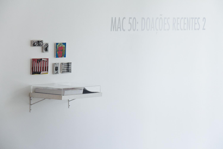 MAC 50: Recent Donations 2  group show at the Museum of Contemporary Art - MAC/USP, São Paulo, February 2013.Curatorship by Tadeu Chiarelli.