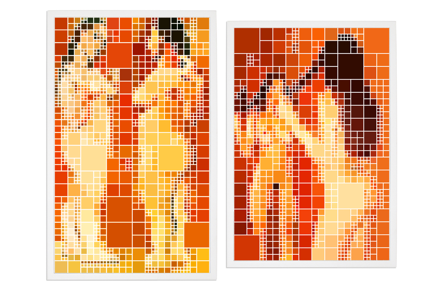 Four Resemblant Nudes, Two After Picasso • 2005/2006 • Photograph, digital print • 24.4 x 14.7 in, 22.6 x 14.7 in