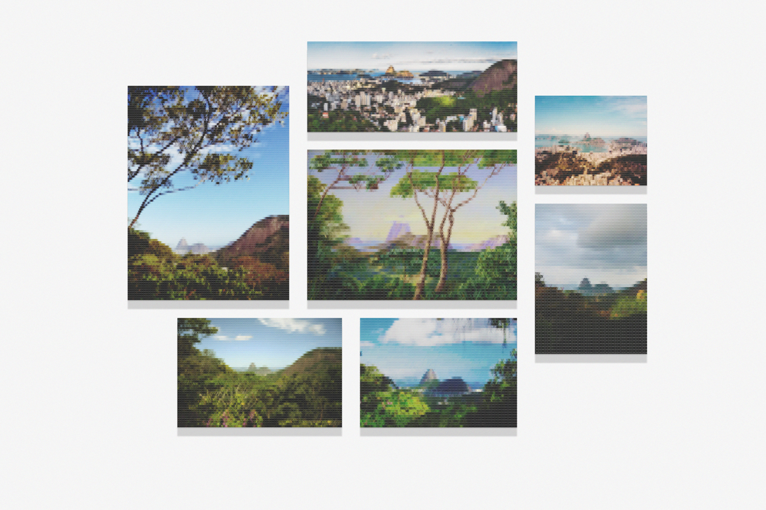 View of the Sugarloaf Mountain, from the Aqueduct Road (Santa Tereza)   • 2010/2015  •   Print on methacrylate and print on cotton paper   • Dimensions variable