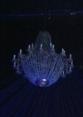 The chandelier was disguised as a jellyfish for a while.