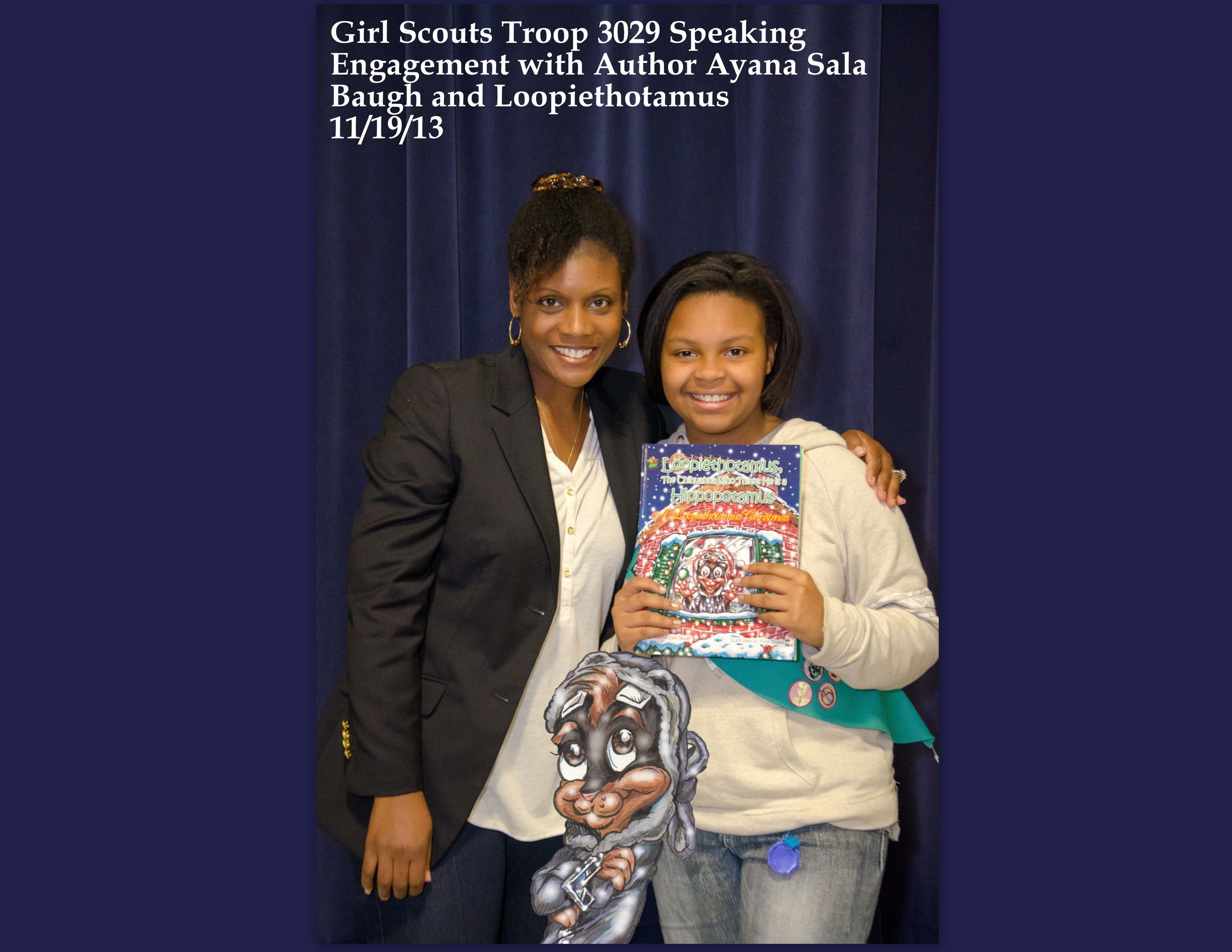 Speaking Engagement with Girl Scouts Troop 3029 111913 2.jpg