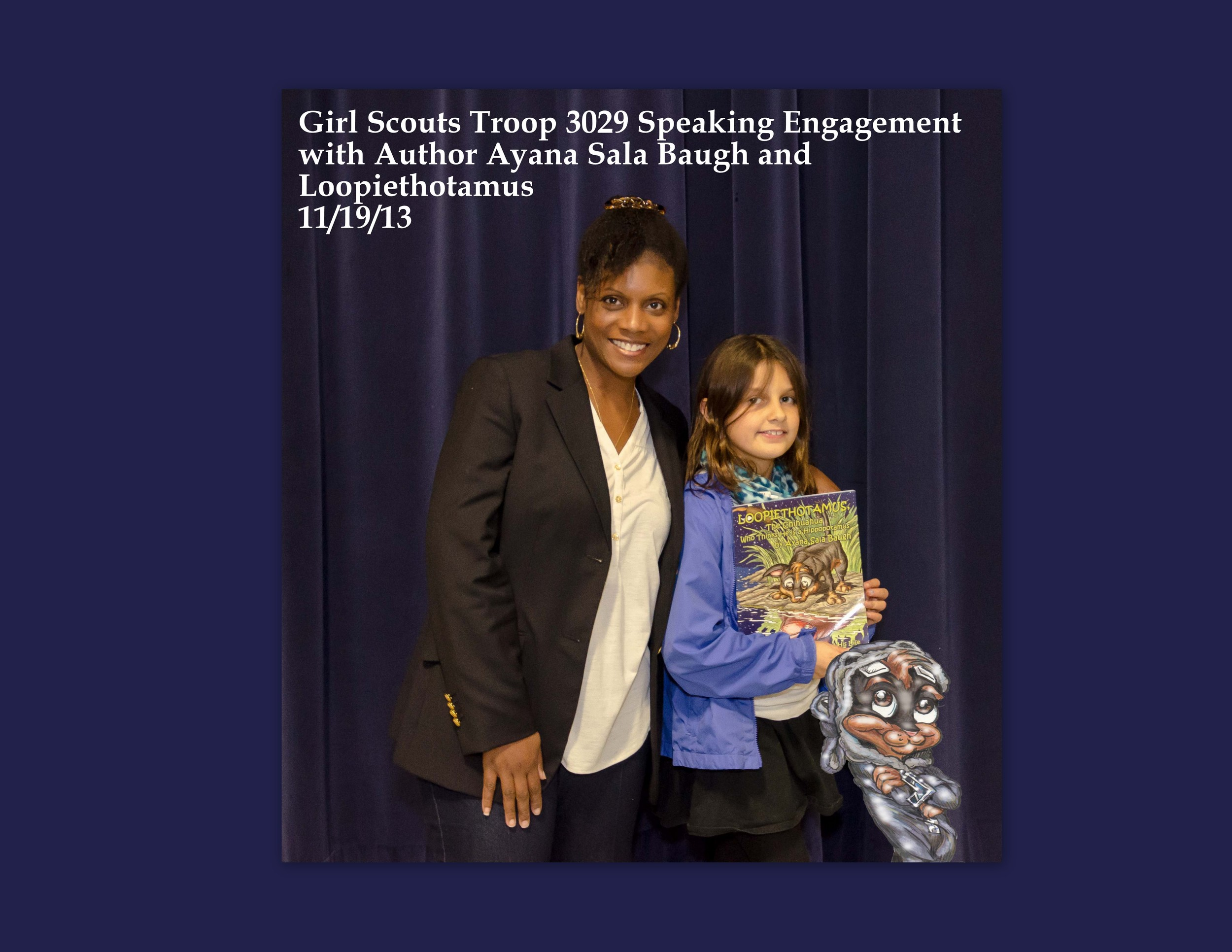Speaking Engagement with Girl Scouts Troop 3029 111913.jpg
