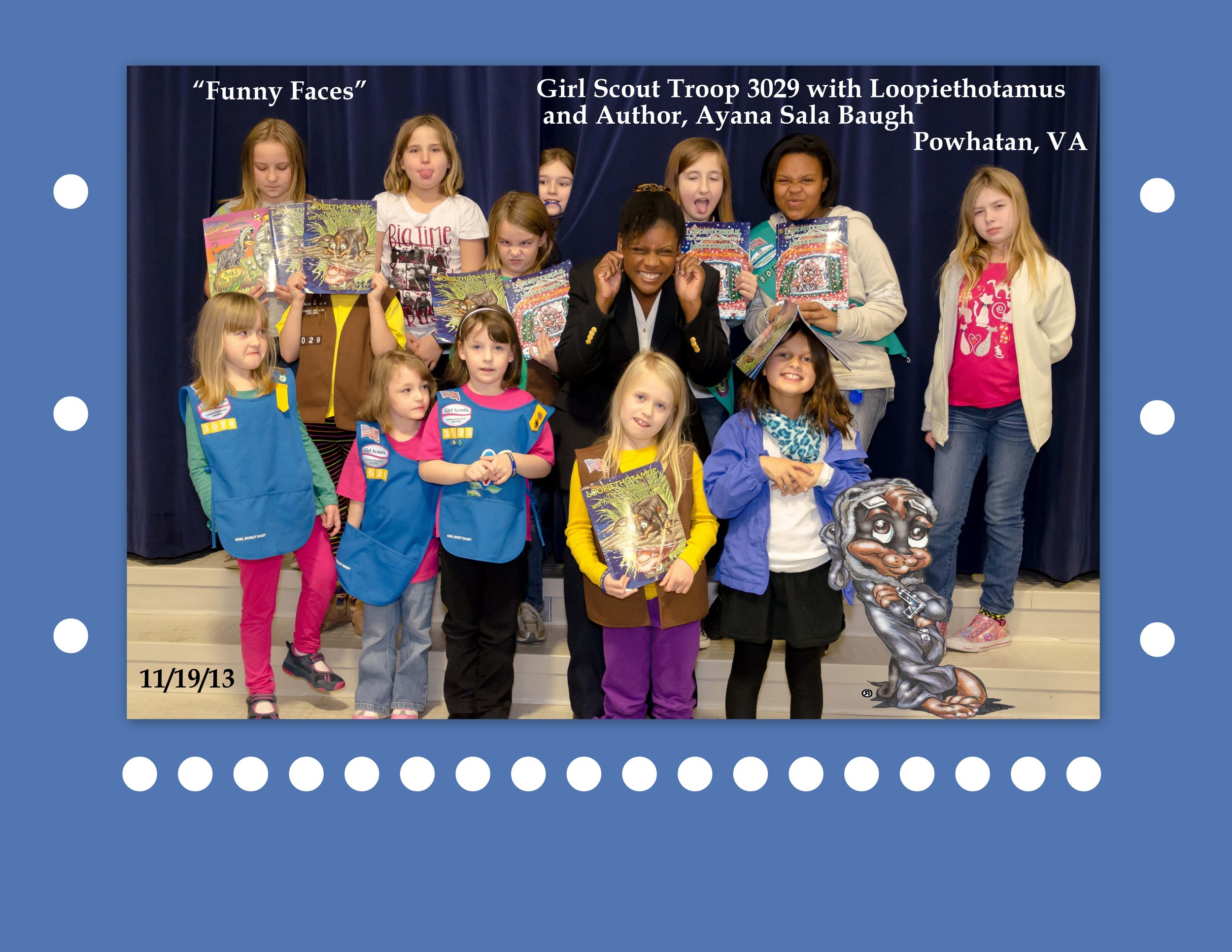 Girl Scouts Troop 3029 Funny Faces pic done in Picasa.jpg