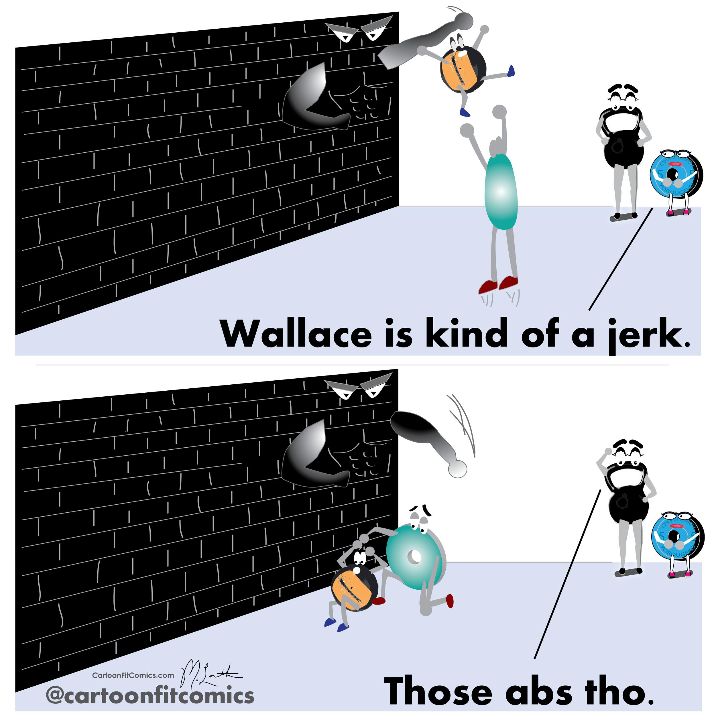 CartoonFit - Wallace - Belle - Wall Ball Rejection