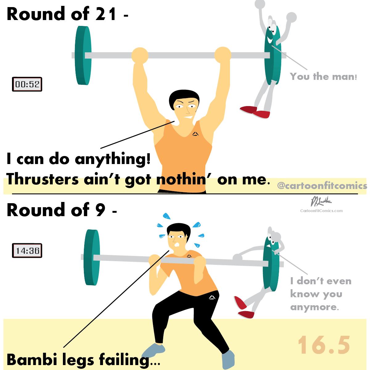Platey - CrossFit Open 16.5 - CartoonFit Comics