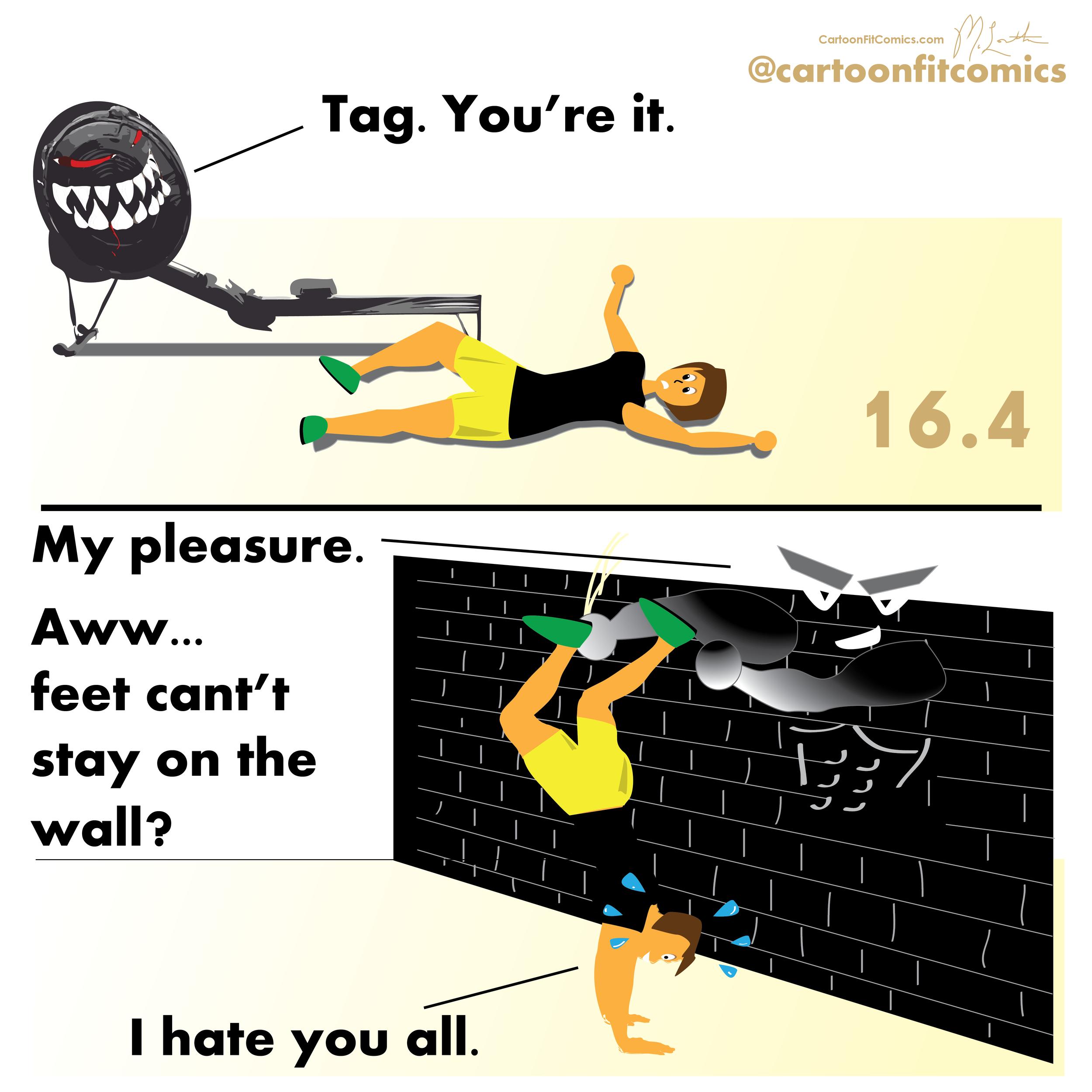 Wallace - CrossFit Open 16.4 - CartoonFit Comics