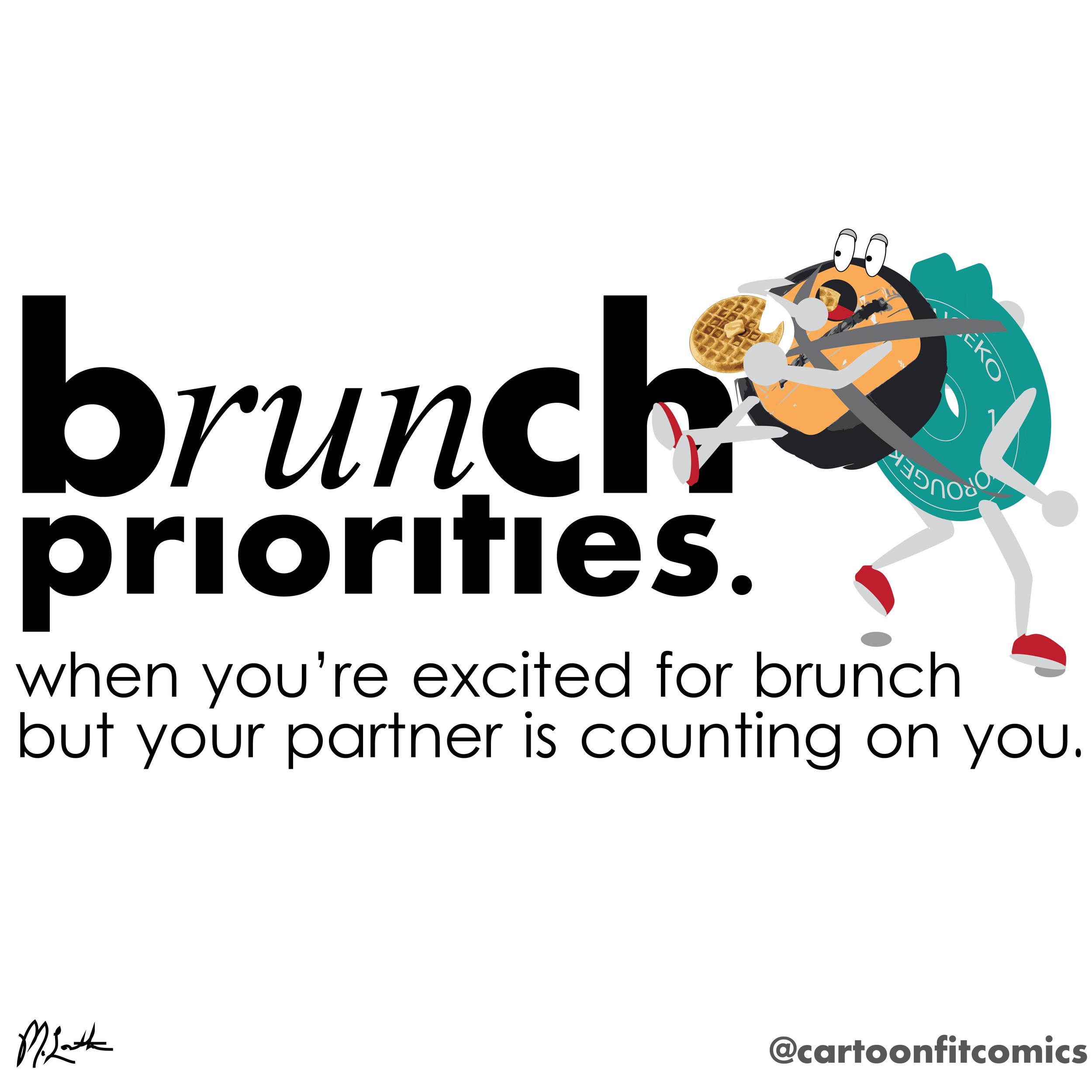 B(run)ch priorities - CartoonFit Comics