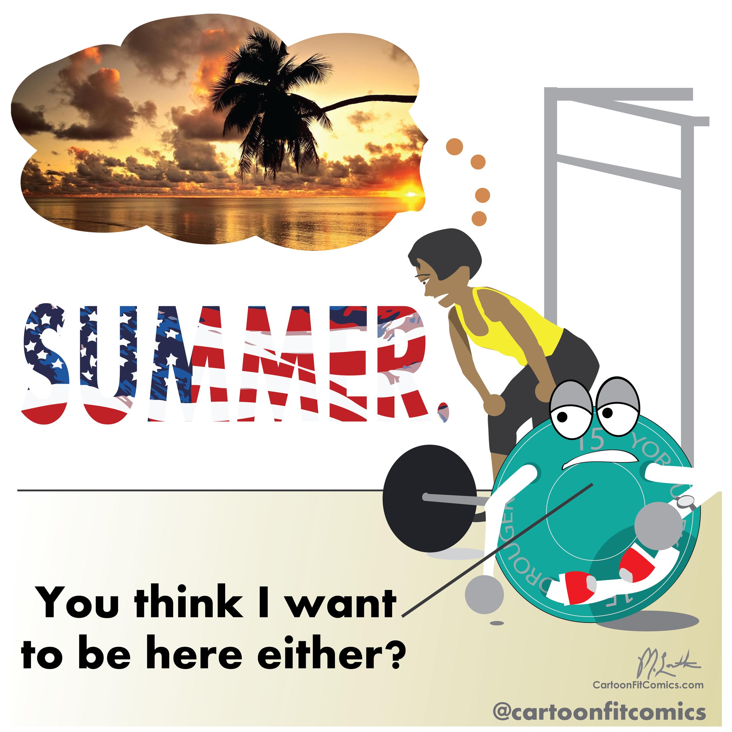 cartoonfit comics - platey - summer dreaming