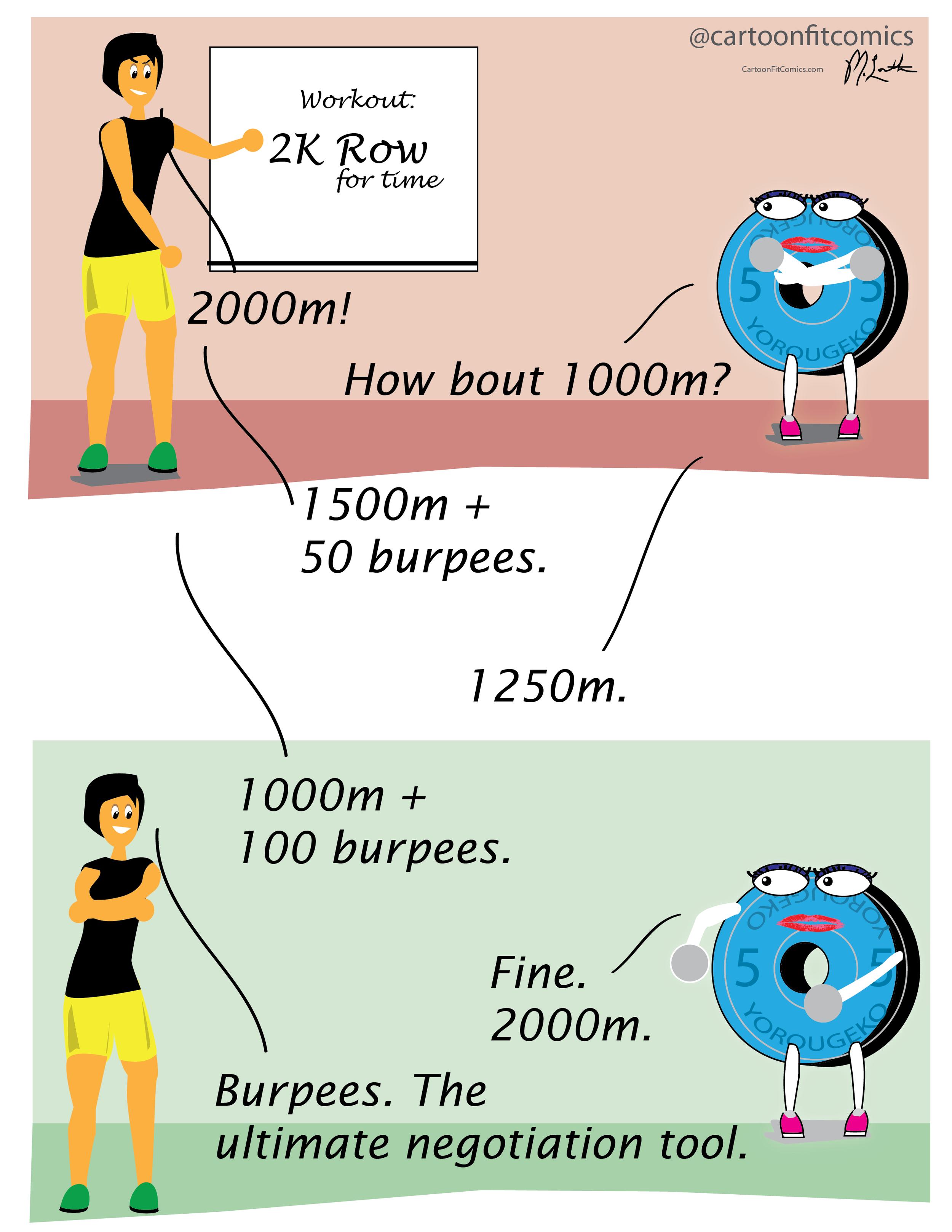 CrossFit workout negotiations - CartoonFit Comics - Tina