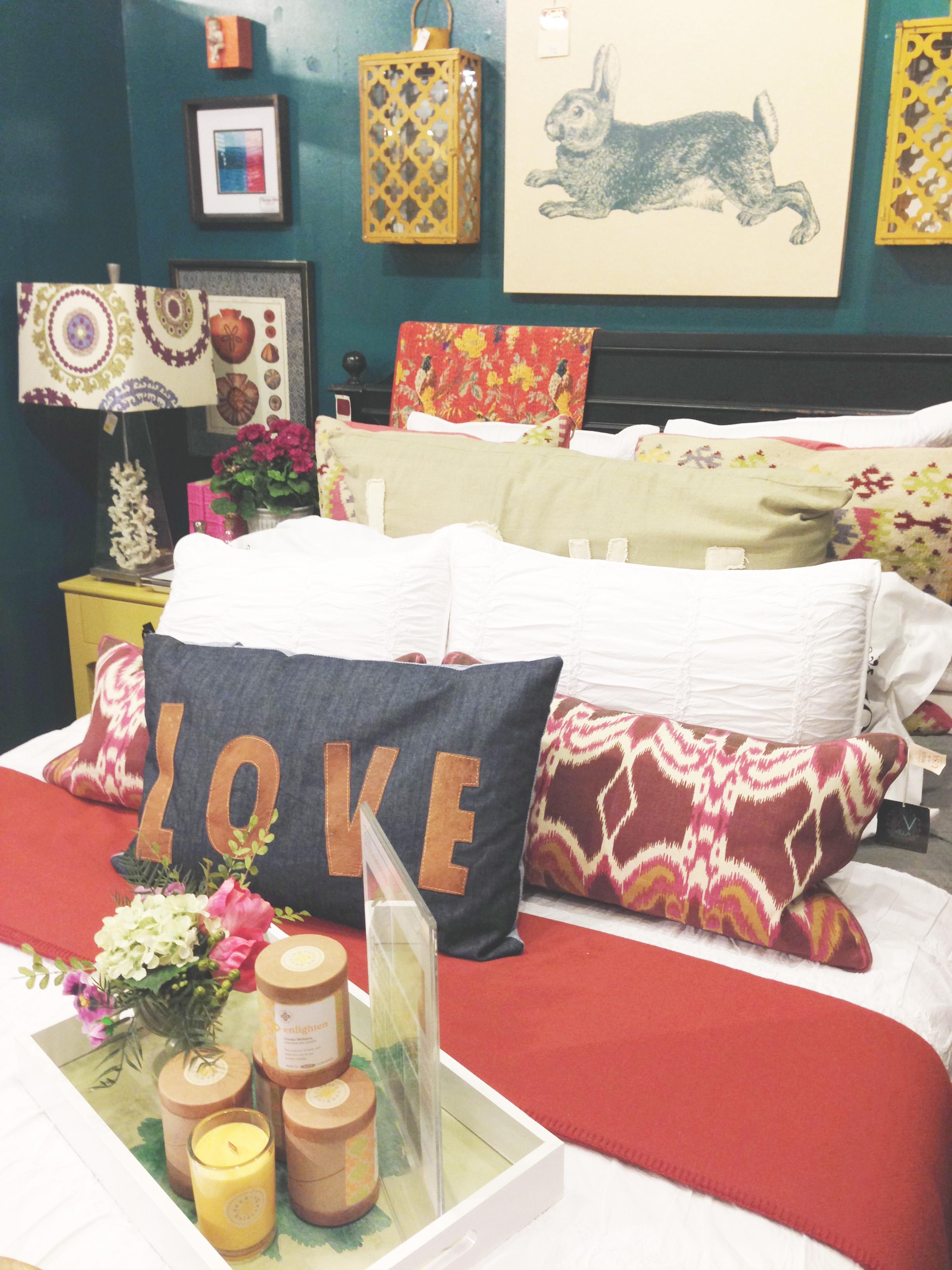 Similar Ikat Pillow , Ceramic Lantern ,  Chambray Boudoir Pillow ,  Suzani Lamp Shade ,  Applique Graphic Pillow
