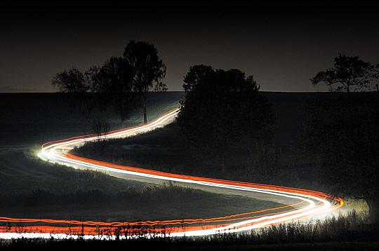 Country Road at Night by Przemyslaw Wielicki