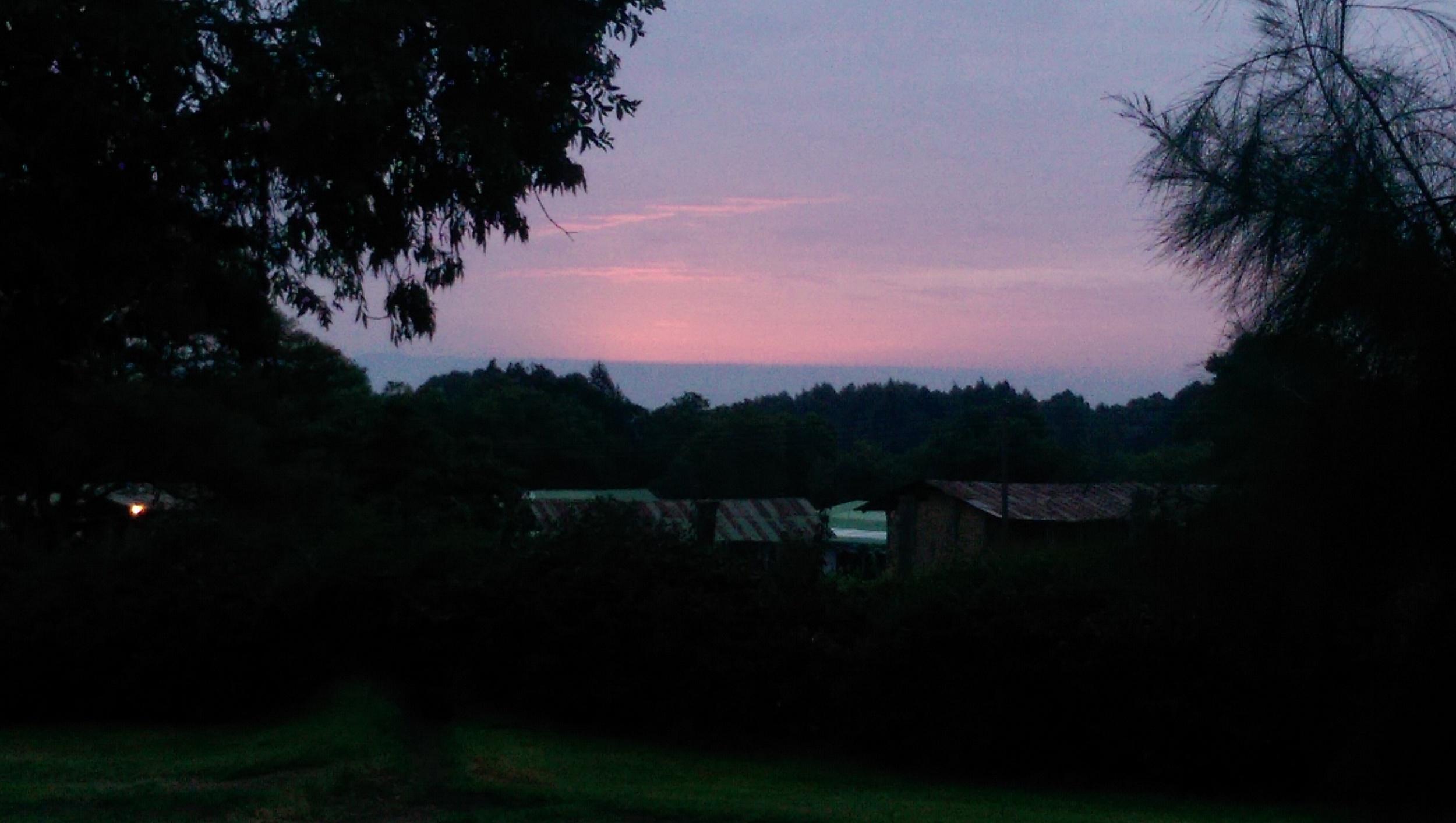 Above - Sunrise at Kembu Cottages June 2014. Top - Lake Nakuru in Nakuru National Park June 2014