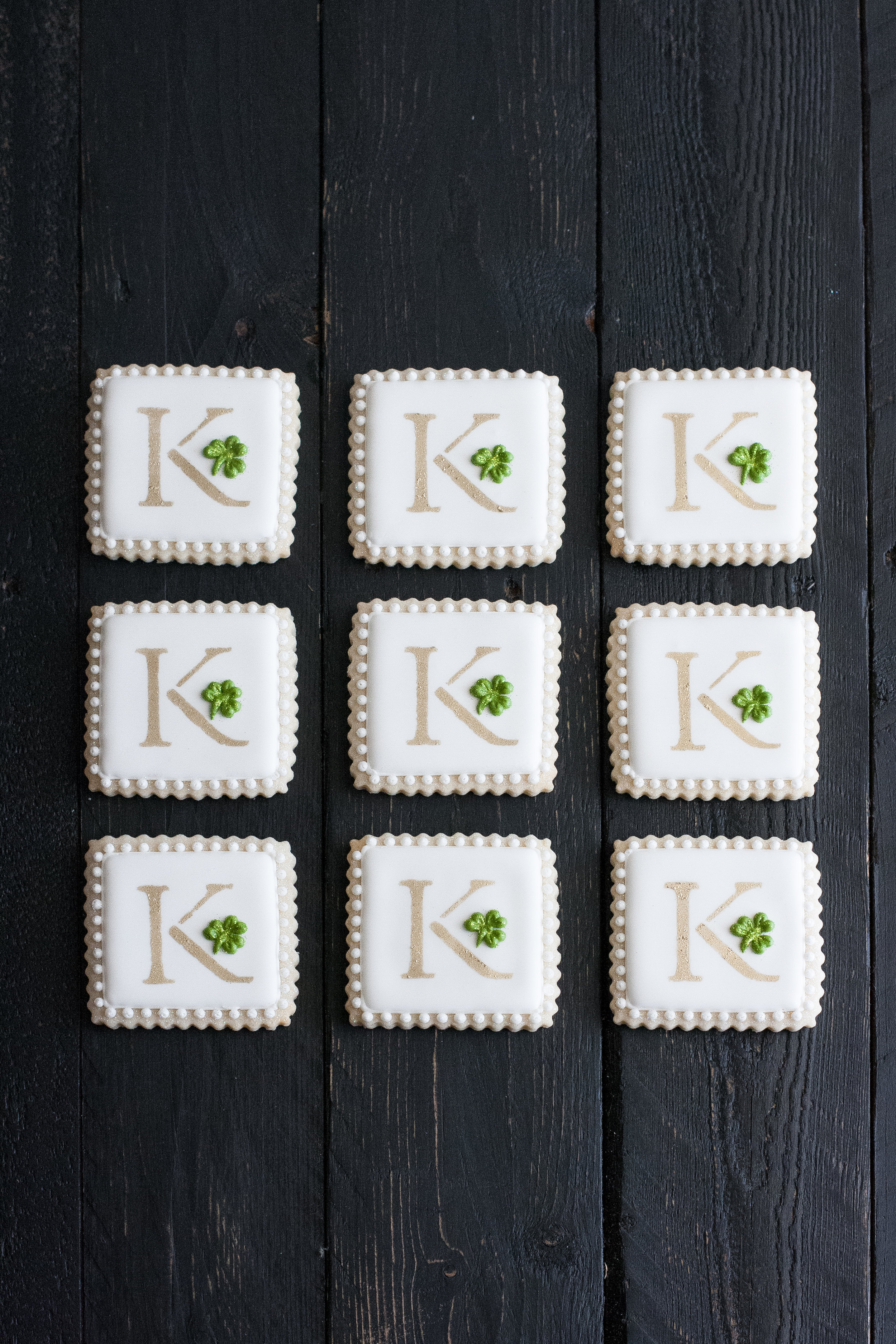 - Irish Monogram Cookies