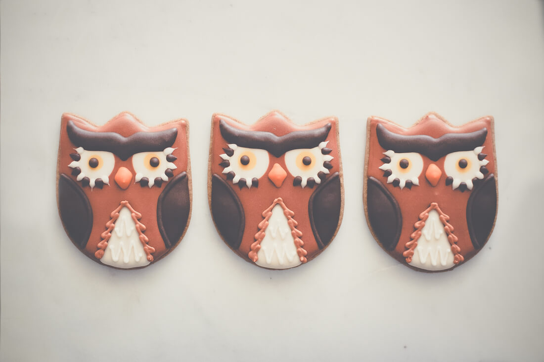 - Gingerbread Owl Cutouts
