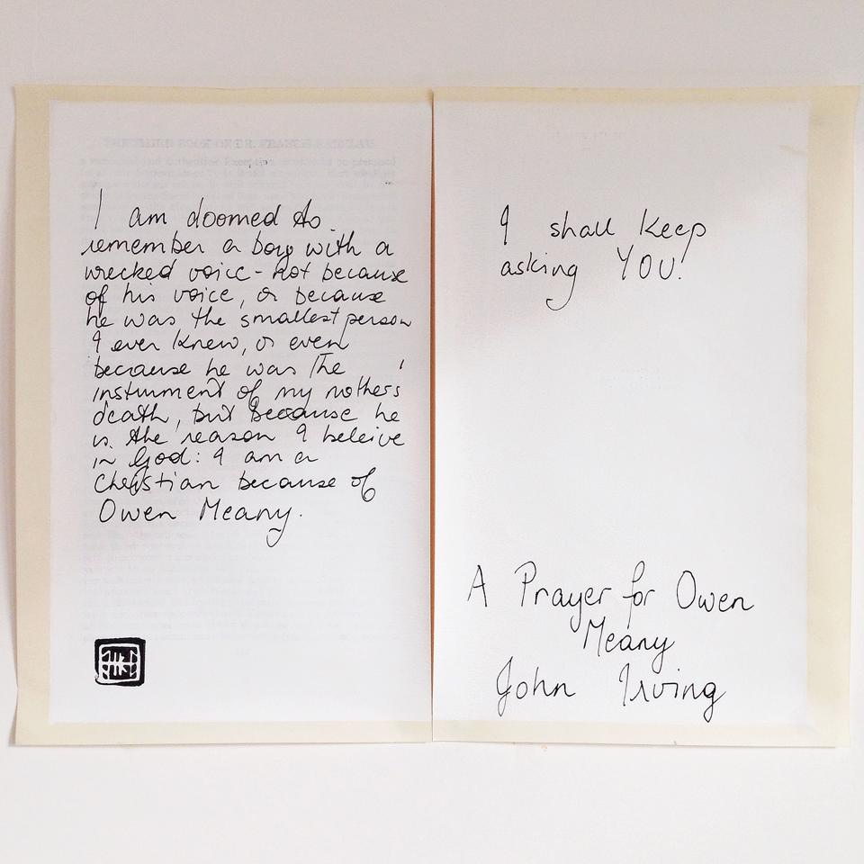 'A Prayer for Owen Meany' (detail) 2014, Helen Kocis Edwards