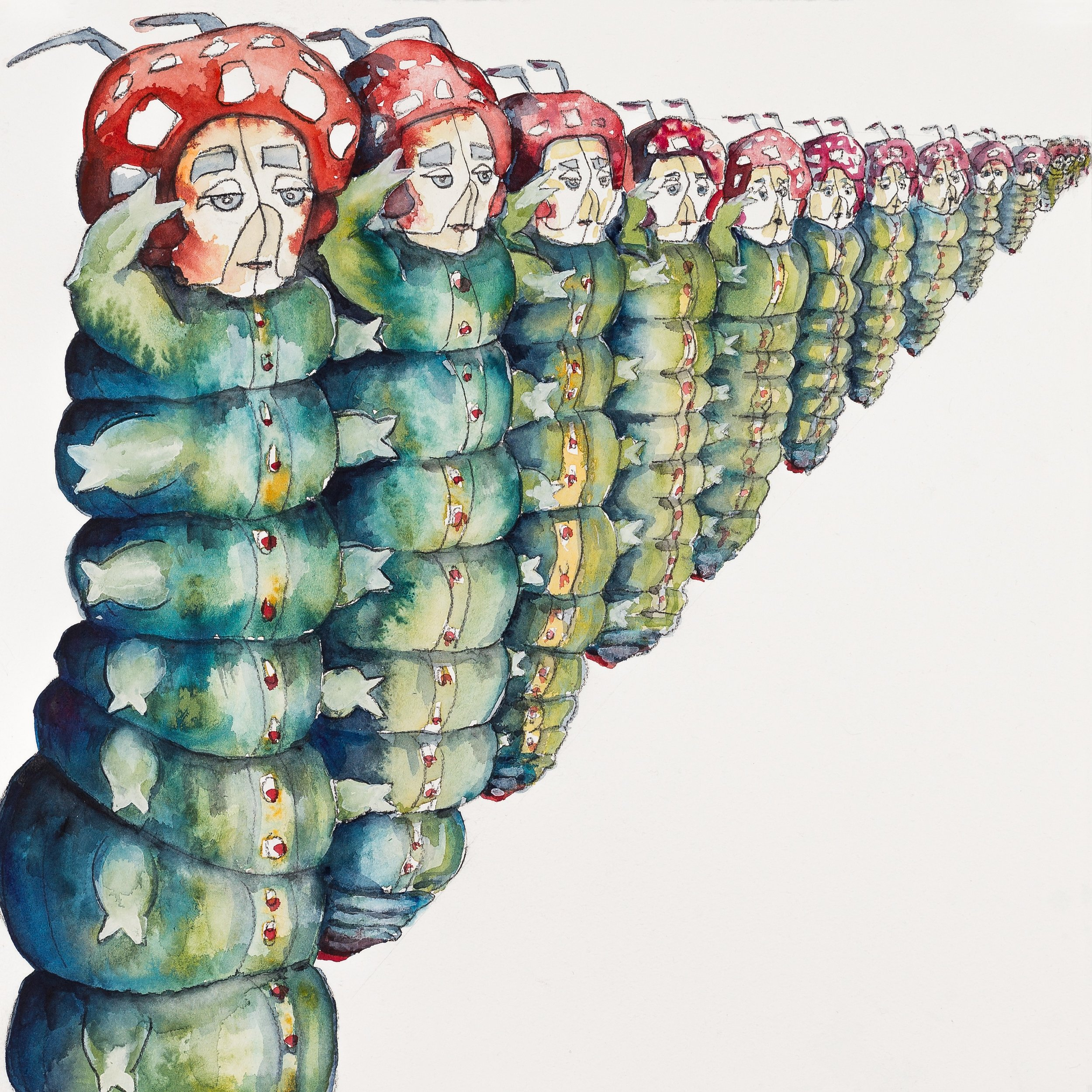 'Army of Caterpillars' (2015) Helen Kocis Edwards