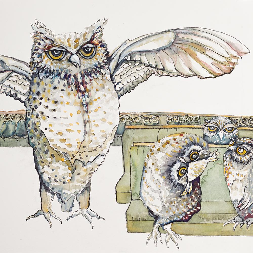 'Parliament of Owls' (2015) Helen Kocis Edwards