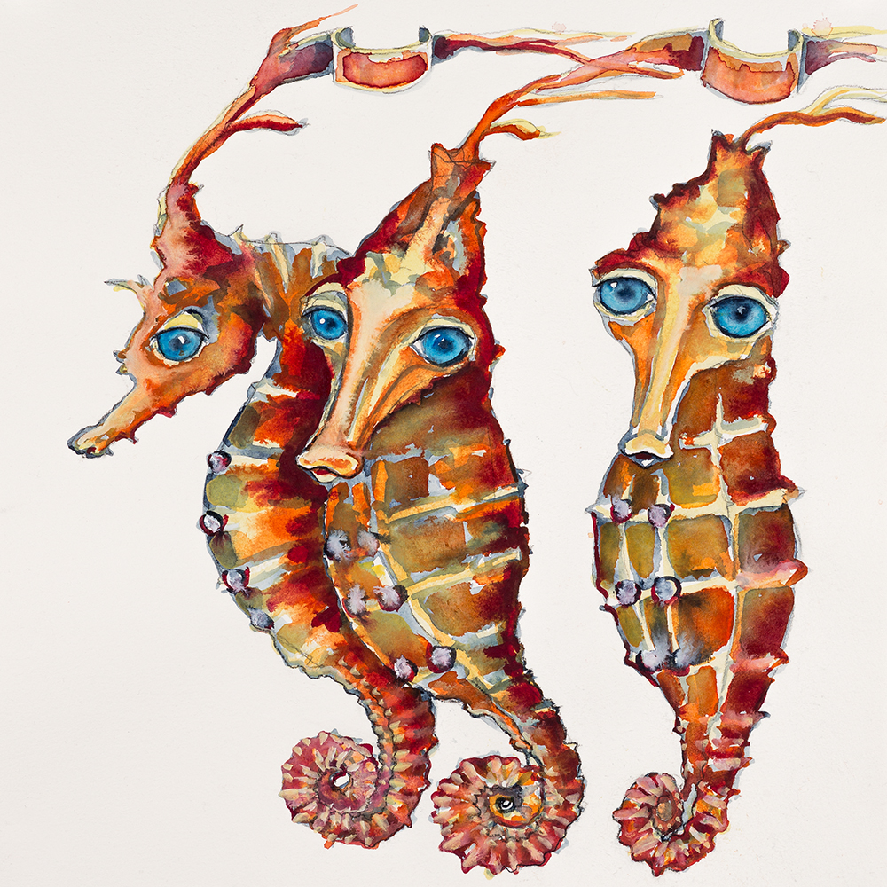 'Herd of Seahorses' (2015) Helen Kocis Edwards