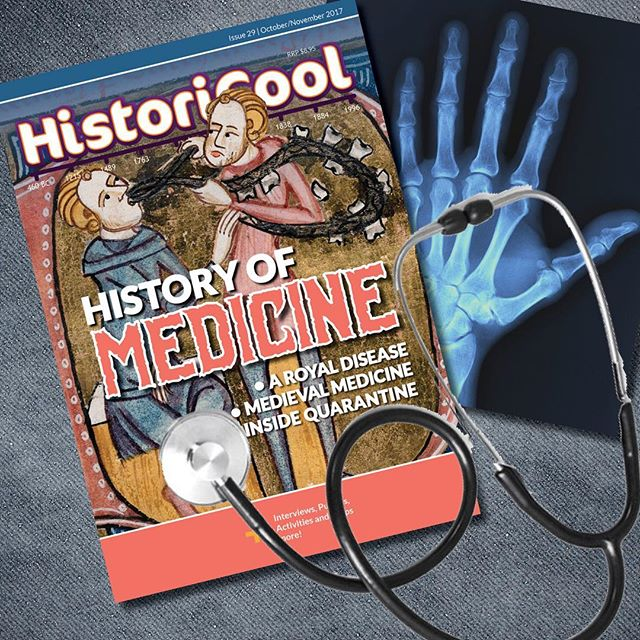 Issue 29 of HistoriCool is out today! In this issue we thank our lucky stars that we were born in a time of good hygiene, trained doctors and advanced medicine, because the stories inside these pages are... well... not ones you'd want to live through! From being locked inside a quarantine station, to questionable medieval medical practices, to the disease that ravaged the royals, a trip to a 21st century doctor suddenly doesn't seem so bad... Grab your paper or digital copy from our website today!