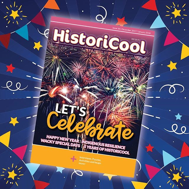 HistoriCool Issue 30 is out today! In this issue we're celebrating celebrations: from the most obscure themes that have a special day dedicated to them (yes, there's actually an Eat Brussels Sprouts Day!), New Years Eve traditions around the world, and Poland's wacky day of Smingus-Dyngus! We also consider both sides of the Australia Day debate. Grab your party popper and join us!