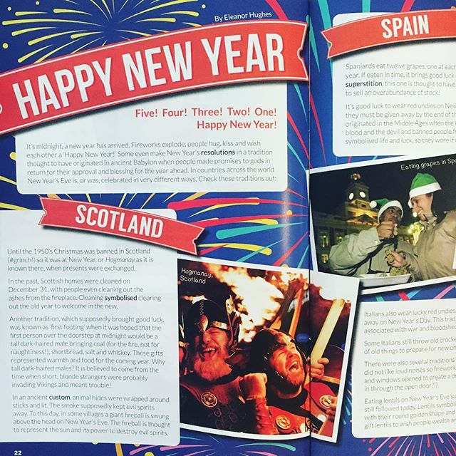 Happy New Year's Eve! Find NYE traditions from around the world in our latest issue - from eating 12 grapes at midnight to wearing red undies (on the outside of your clothes!!)