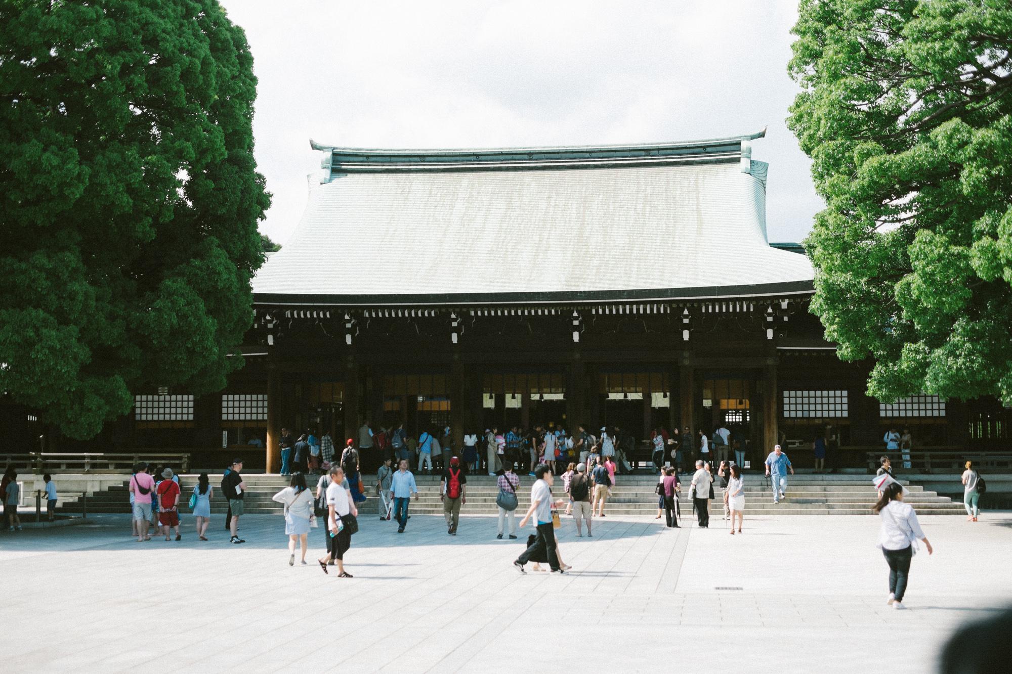 The Meiji Shrine in Harajuku.