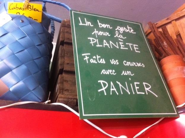 Market baskets on sale at La Graineterie du Marché