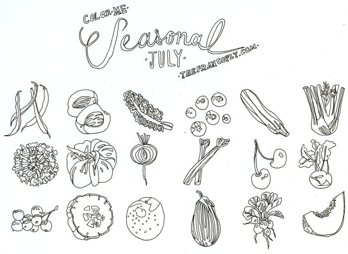 thefrancofly's July edition of Color Me Seasonal