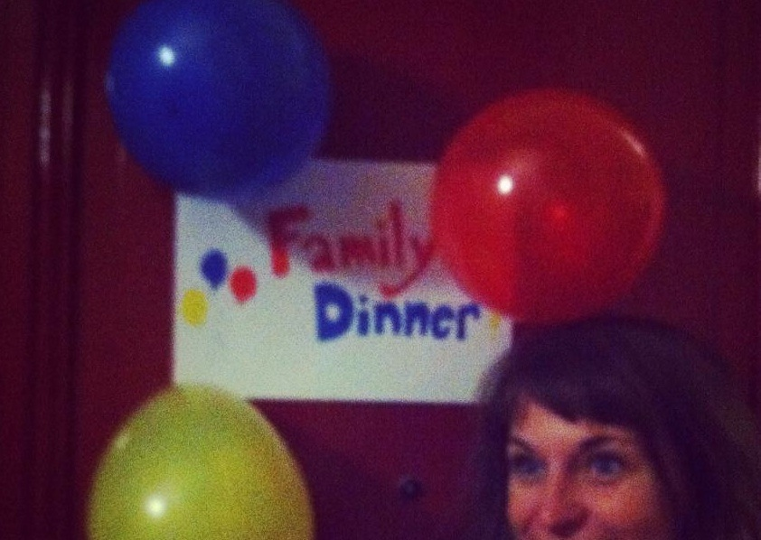 It's not a dinner PARTY if there aren't balloons