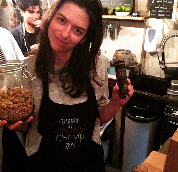 """Jessie at the """"Guerre de Granola"""" Championship photo courtesy of Anna Brones"""