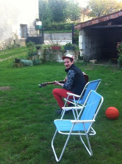 Ben's first concert in Pouillé!