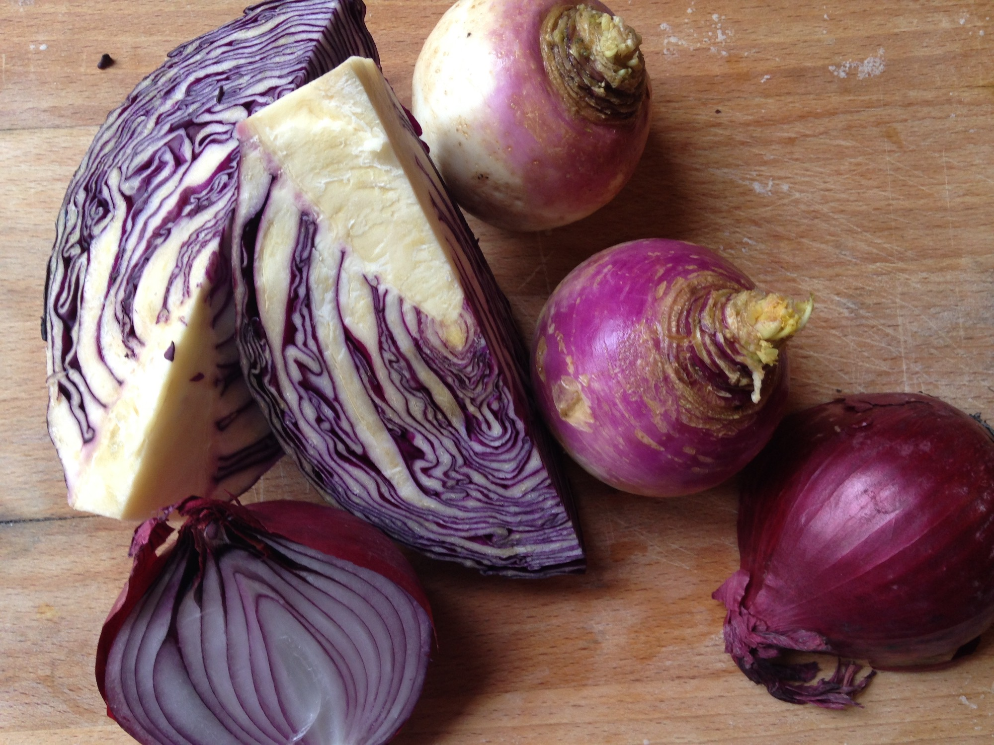 Red Cabbage Salad - Make you winter meal pop with purple