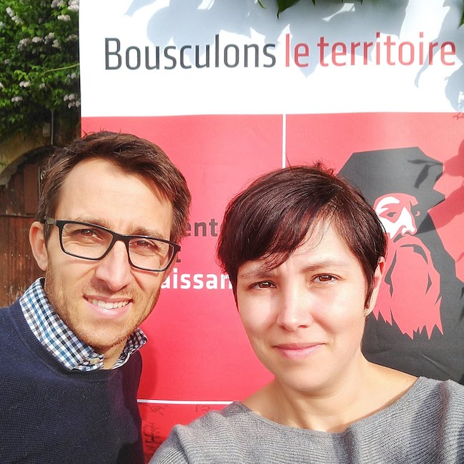 Matt and Katie Peraudeau, founders of Art Is An Ale Brewery in Amboise