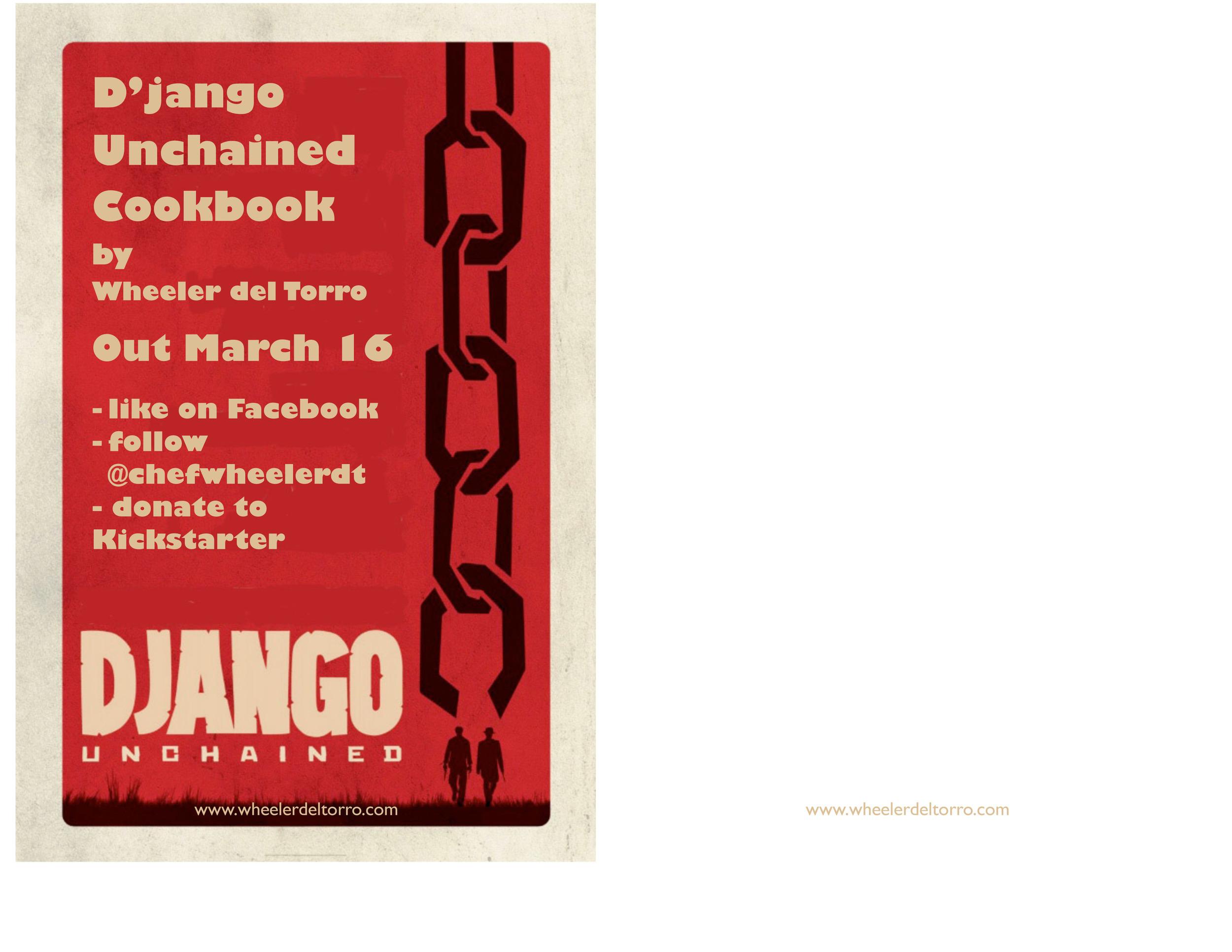 Django unchained cookbook flyer Wheeler del Torro