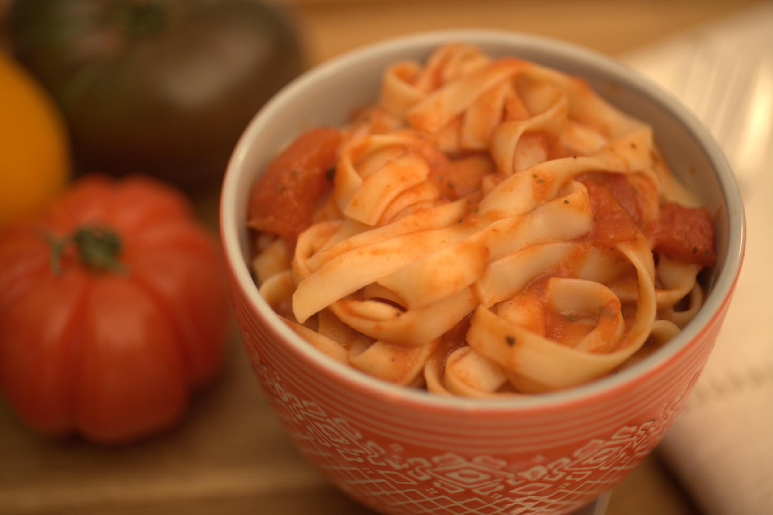 Heirloom Tomoto Spaghetti