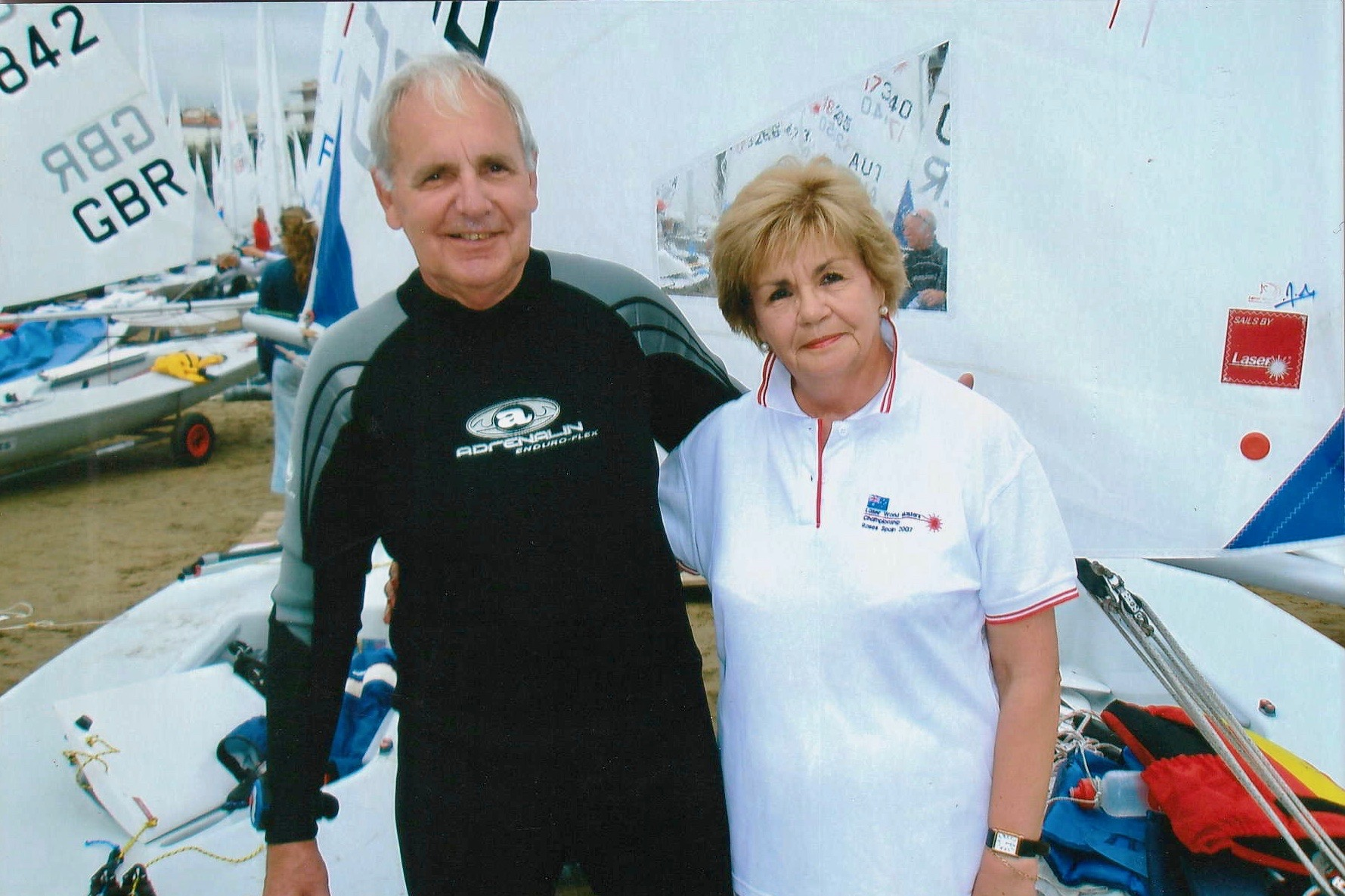 Dene and Andrea in Roses, Spain. World Masters, 2007.