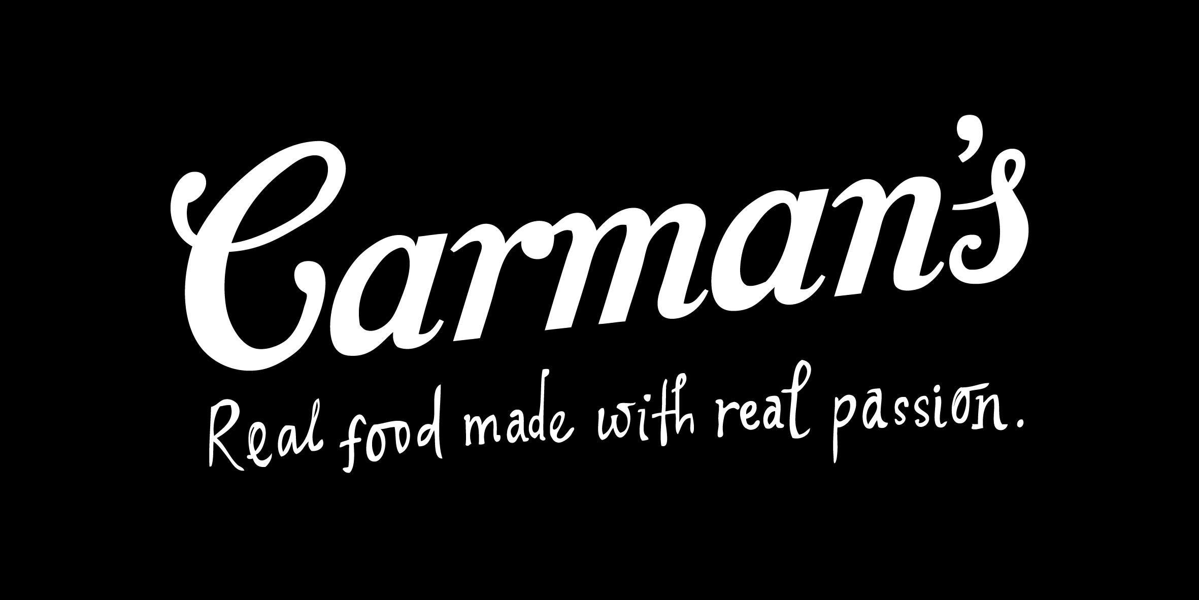 Carman's logo in black rectangle (with tagline).jpg