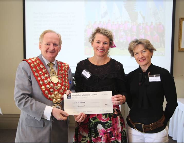 Mayor Peter Cavanagh with DBSC's Clare Alexander and Christine Patton