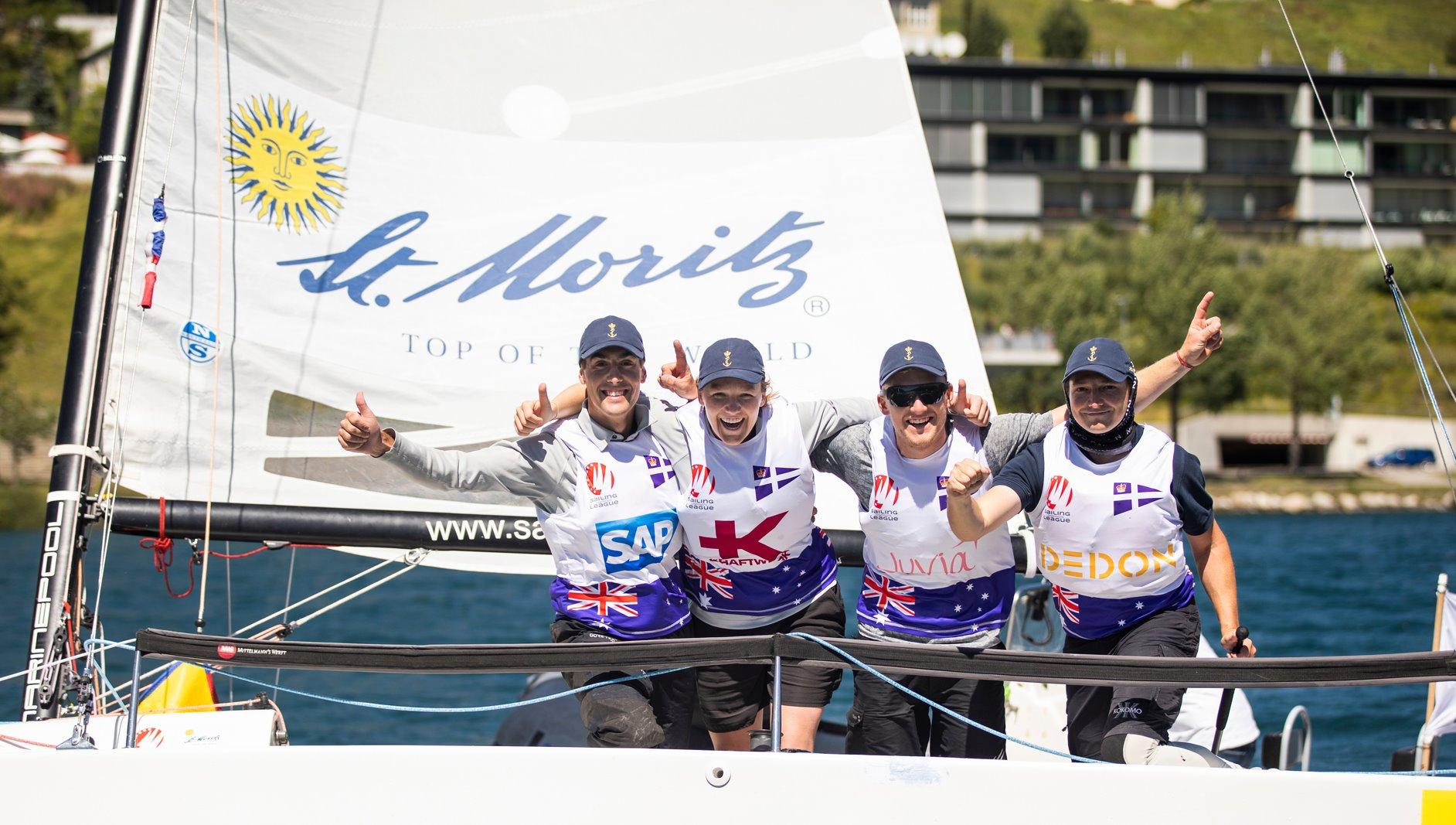 The winning crew at St. Moritz