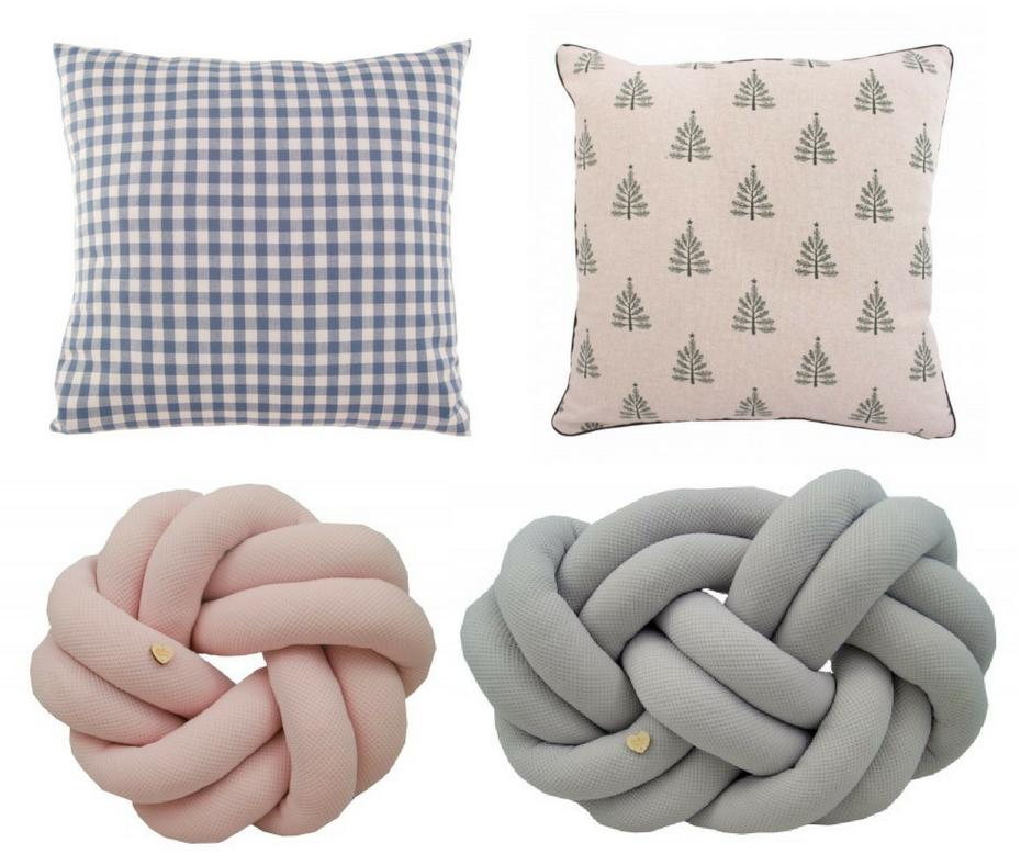 Poduszka kratka  /  poduszka choinki  /  poduszka węzełróżowa  /  poduszka węzeł szara
